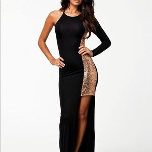 Maxi Dress One Shoulder Long sleeve Dress